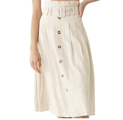 Forever21 Paperbag Midi Skirt.
