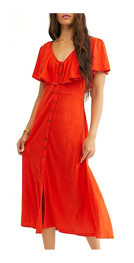 Free People Messenger Midi Dress.