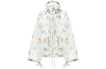 GANNI Petunia Transparent Rain Jacket.