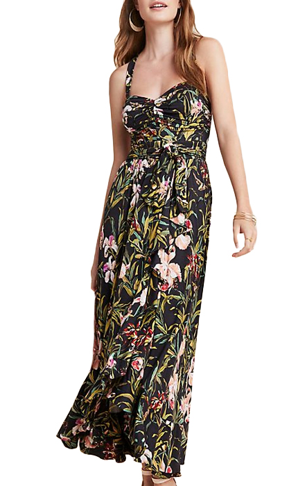 Anthropologie Gabriela Ruffled Maxi Dress.