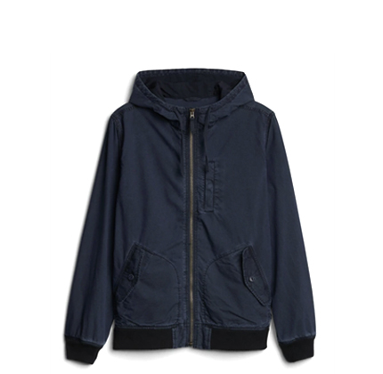 Gap Hooded Bomber Jacket.