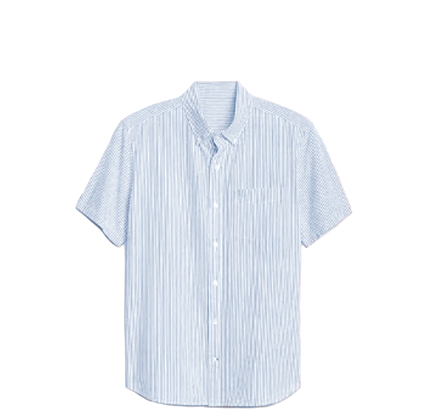 Gap Seersucker Short Sleeve Shirt.