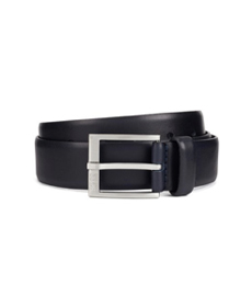 Hugo Boss Smooth-leather belt with brushed-silver buckle.