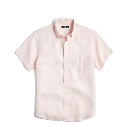 J.Crew Slim-fit short-sleeve linen shirt.