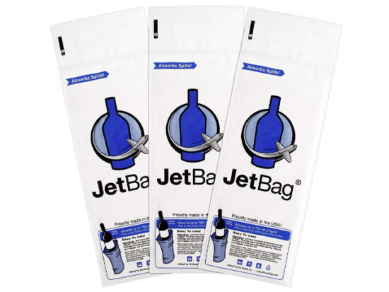 Jet Bag Bold - The Original ABSORBANT Reusable and Protective Bottle Bags - Set of 3.