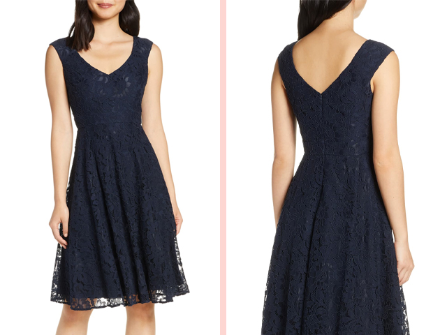 Lace Fit & Flare Dress ELIZA J.