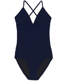 Lands' End Women's V-neck One Piece Swimsuit.
