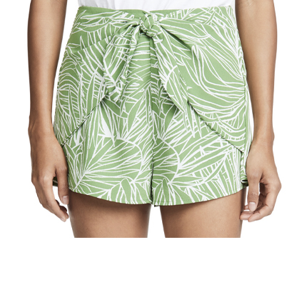 Lost + Wander Vines Tie Front Shorts.