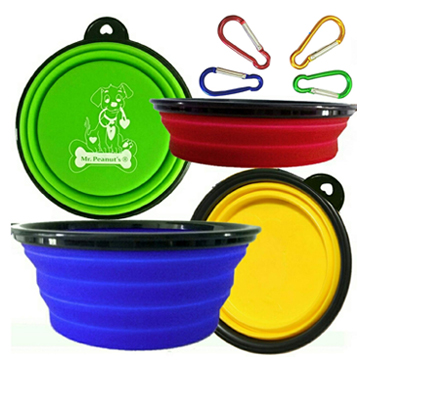Mr. Peanut Collapsible Dog Bowls.