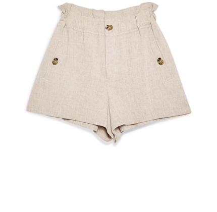 Paperbag Waist Shorts TOPSHOP.