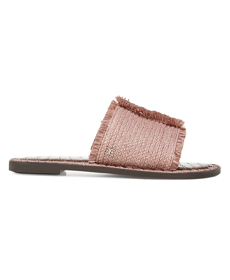 Sam Edelman Ribbed Raffia Slide Sandals.