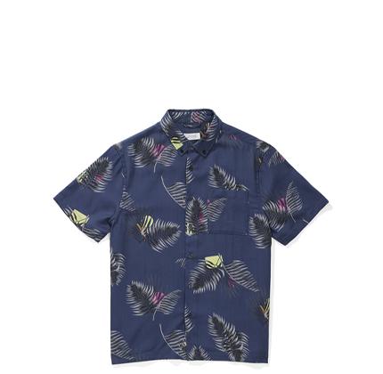 Saturdays NYC Men's Bruce Palm Short Sleeve Shirt.