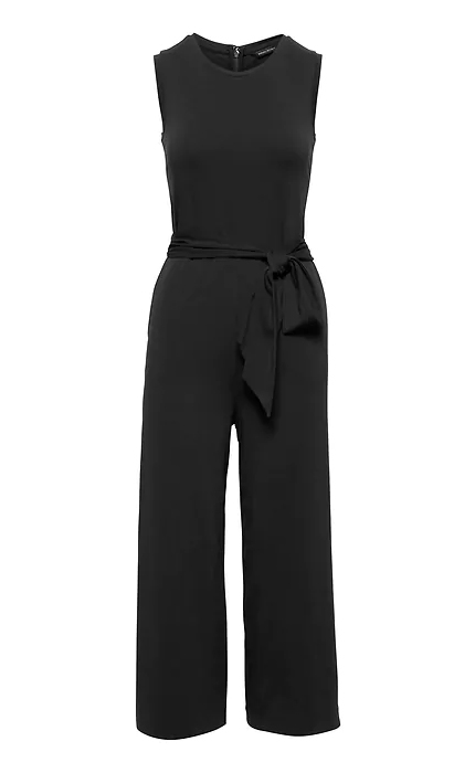 Banana Republic Soft Ponte Cropped Wide-Leg Jumpsuit.
