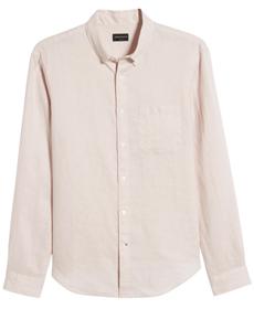 Solid Linen Slim Fit Sport Shirt CLUB MONACO.