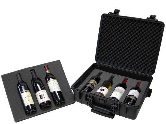 T.Z. Case International T.z 7-Bottle Wheeled Wine Case.