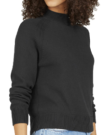 Everlane The Cotton Mockneck Crop.