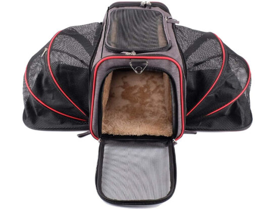 The Original Airline Approved Expandable Pet Carrier by Pet Peppy.