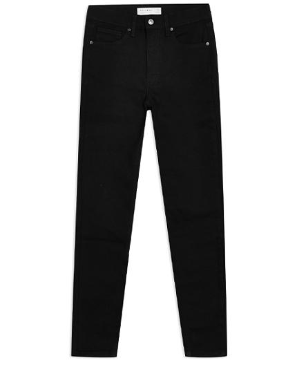Topshop Pure Black Jamie Jeans.