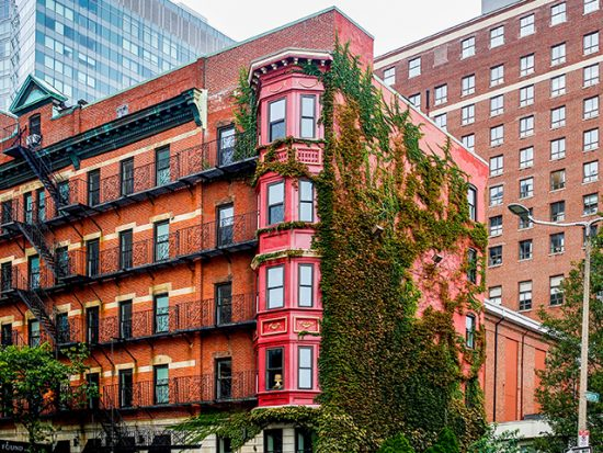 View of Boston cityscape.