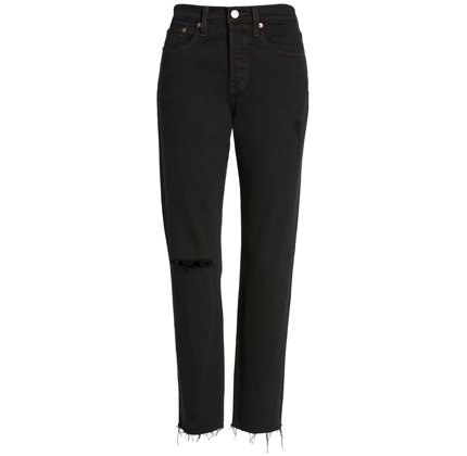 Wedgie Icon Fit High Waist Ripped Skinny Jeans LEVI'S®.