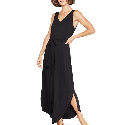 Target Women's Sleeveless V-Neck Knit Maxi Dress - A New Day™ Black.
