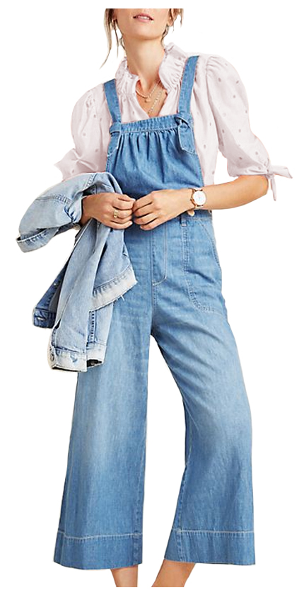 Pilcro Wide-Leg Denim Jumpsuit.
