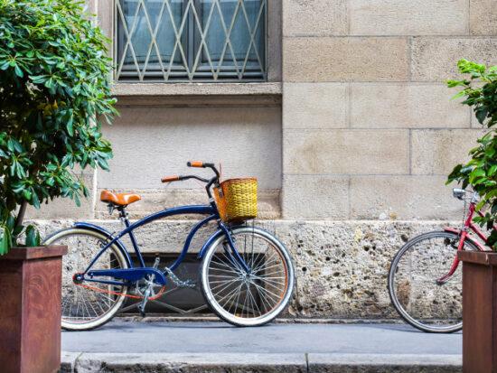 Bike on the street in Milan.