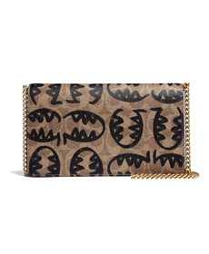 Coach Callie Foldover Chain Clutch In Signature Canvas With Rexy By Guang Yu.