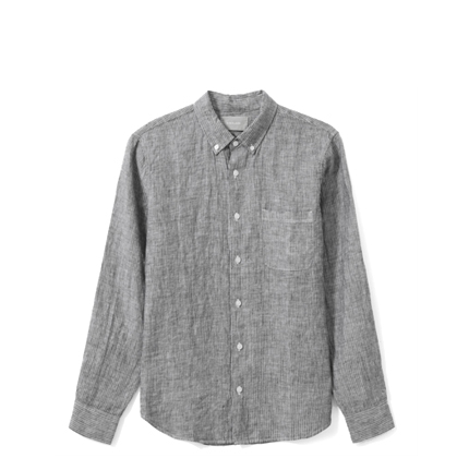 Everlane The Linen Standard Fit Shirt.