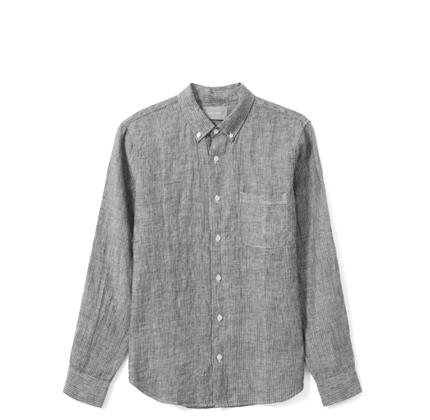 Everlane The Linen Standard Fit Shirt.