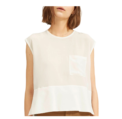 Everlane The Silk Square Muscle Top.