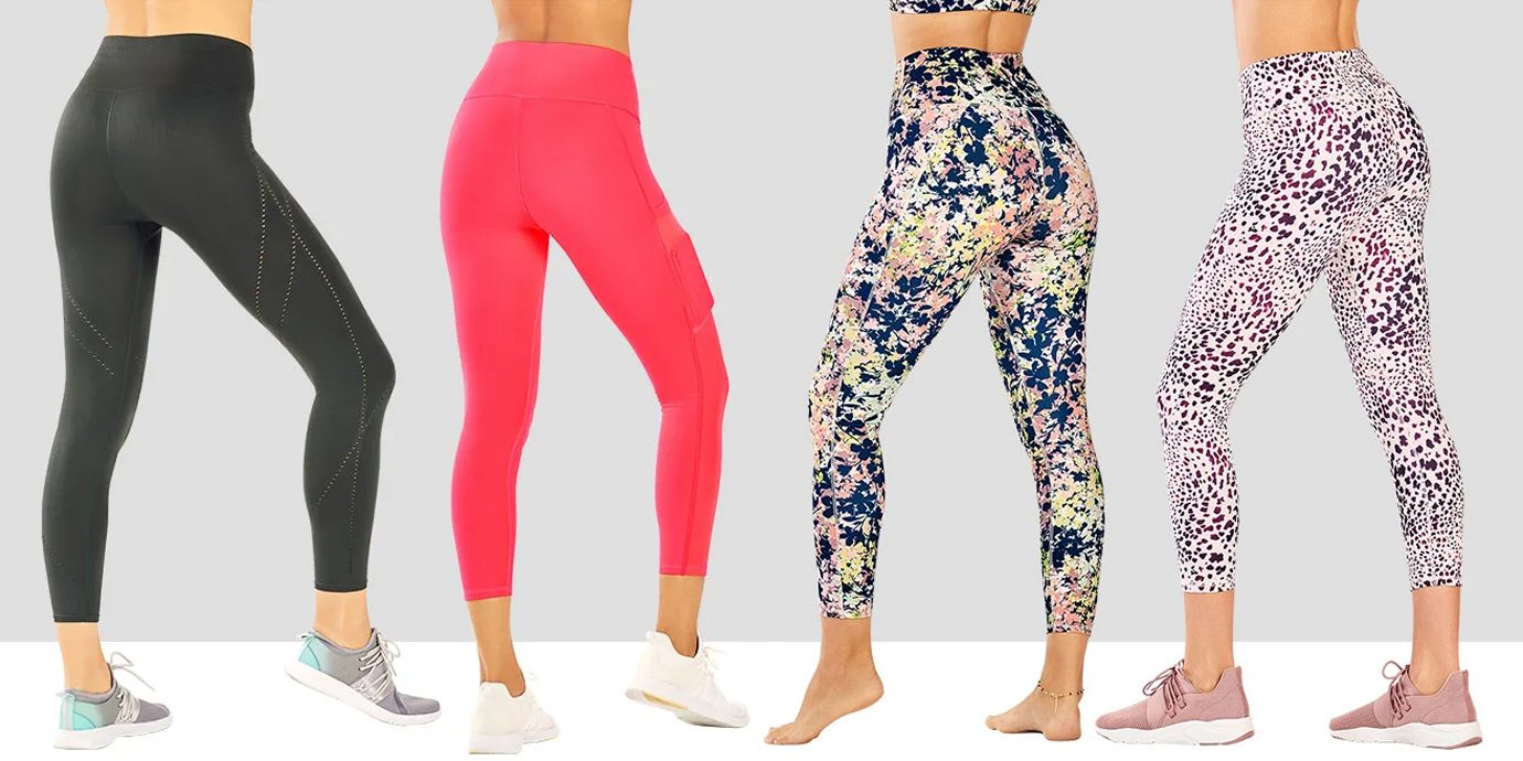 Fabletics leggings collage.