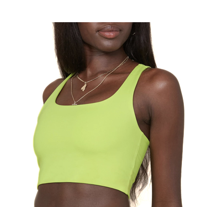 Girlfriend Collective Lime Paloma Bra.