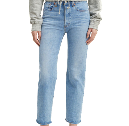 Levi Wedgie Fit Straight Jeans.