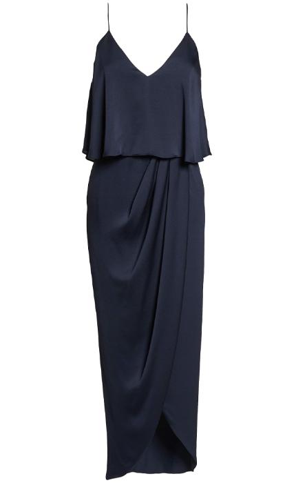 Luxe Frill Tulip Hem Maxi Dress SHONA JOY.