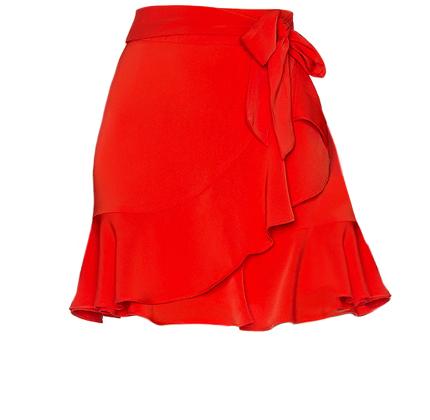 Patricia Ruffle Wrap Skirt superdown.