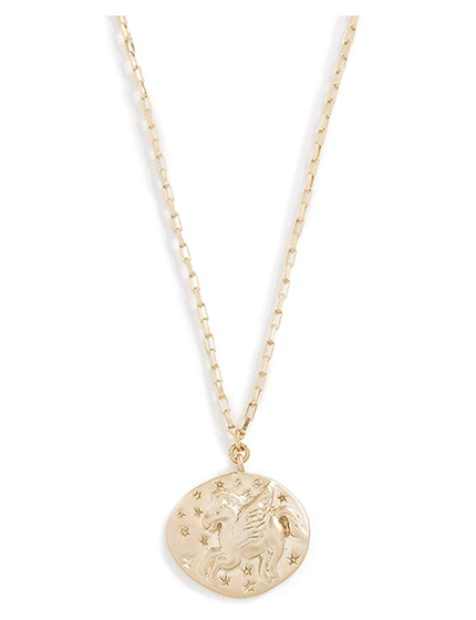 SHASHI Women's Coin Necklace.