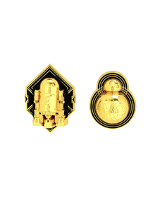 STAR WARS GOLD R2-D2 & BB-8 ENAMEL PIN SET.
