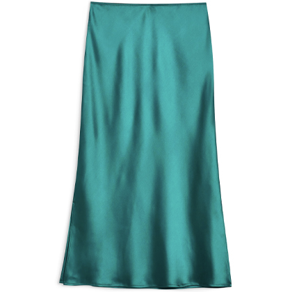 Split Side Bias Midi Skirt TOPSHOP.