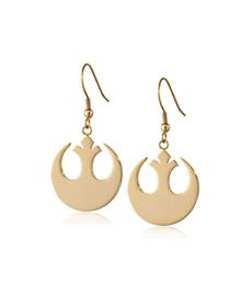 Star Wars Stainless Steel Rebel Alliance Dangle Earrings.