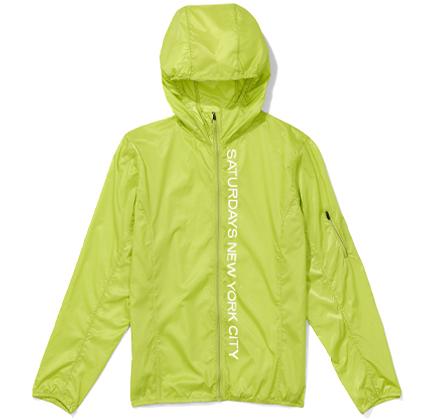 Tatsu Packable Windbreaker Chartreuse.