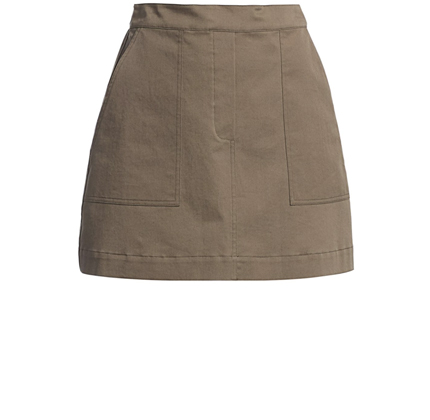 Theory Cargo Mini Skirt.