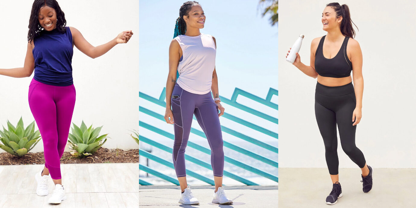 Three different Fabletics outfis.