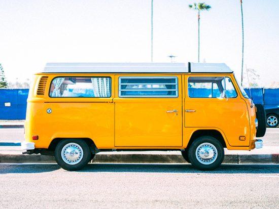 VW Van Parked on the Street.