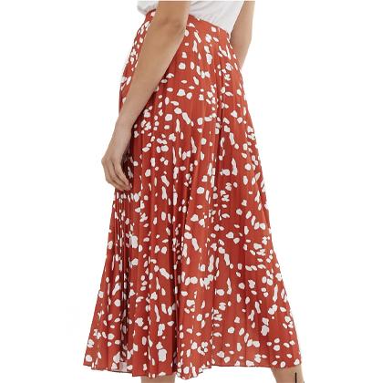 ASOS DESIGN pleat midi skirt in abstract animal.