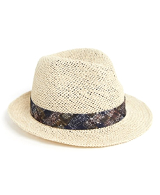 ASOS DESIGN straw pork pie hat.