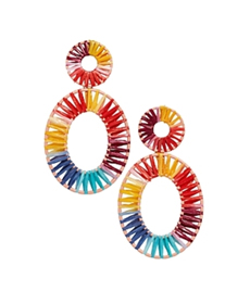 Baublebar KIERA RAFFIA STATEMENT EARRINGS.
