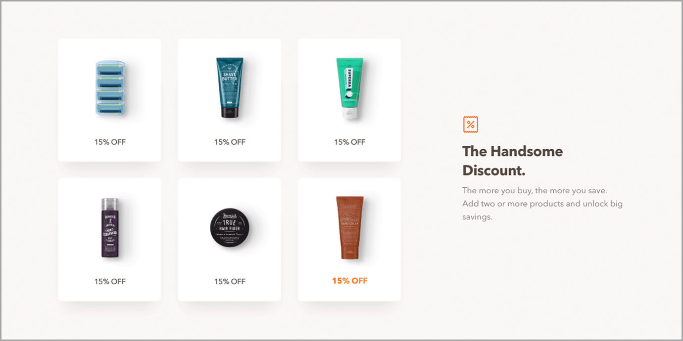 Dollar Shave Club The Handsome Discount.