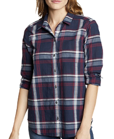 Eddie Bauer Boyfriend Packable Shirt.