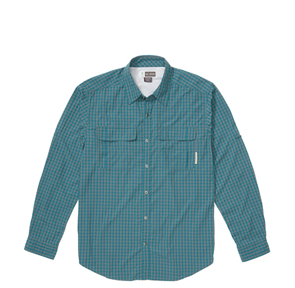 Exofficio MEN'S BUGSAWAY HALO CHECK LONG-SLEEVE SHIRT.